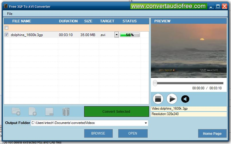 Free 3GP to AVI Converter