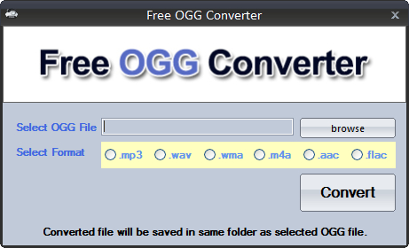 ogg to wav converter freeware