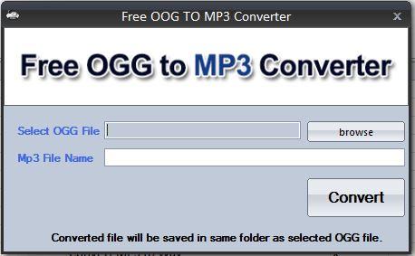 Convert Audio Free - Free Ogg to MP3 Converter