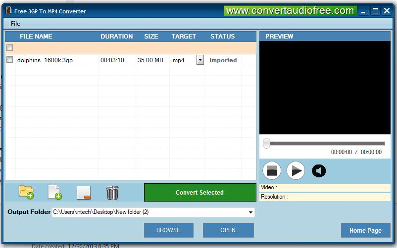 Free 3GP to MP4 Converter