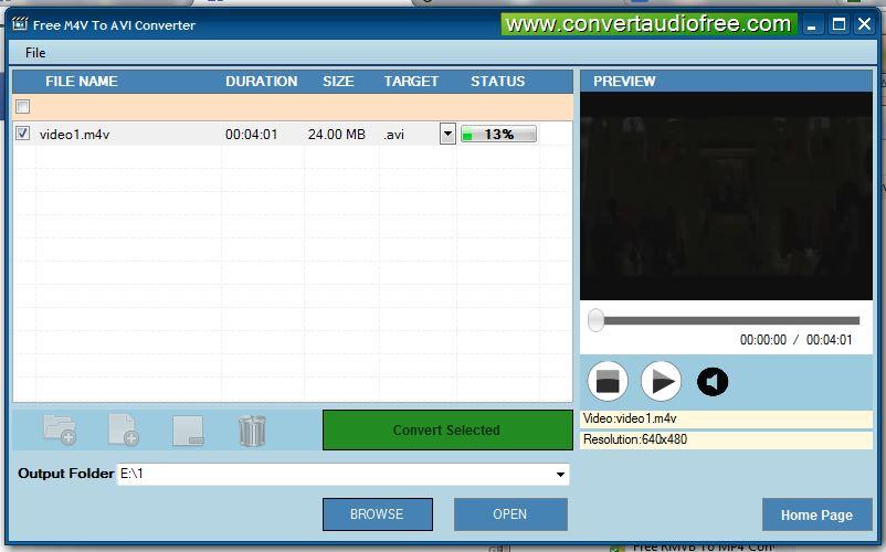 Free M4V to AVI Converter